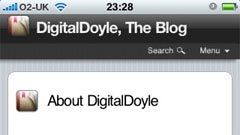 DigitalDoyle.com on iPhone