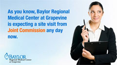 Thumbnail image for Baylor Regional Medical Center at Grapevine – Joint Commission Message