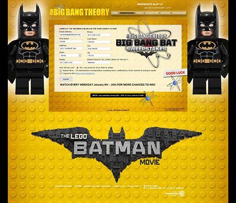 Big Bang Theory - Big Bang Bat Registration Page